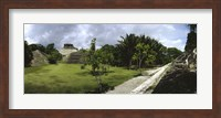 Old ruins of a temple in a forest, Xunantunich, Belize Fine Art Print