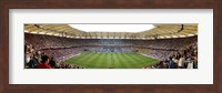 Crowd in a stadium to watch a soccer match, Hamburg, Germany Fine Art Print