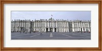 Facade of a museum, State Hermitage Museum, Winter Palace, Palace Square, St. Petersburg, Russia Fine Art Print