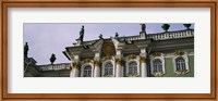 Low angle view of a palace, Winter Palace, State Hermitage Museum, St. Petersburg, Russia Fine Art Print