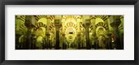 Interiors of a cathedral, La Mezquita Cathedral, Cordoba, Cordoba Province, Spain Fine Art Print