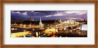 City lit up at night, Red Square, Kremlin, Moscow, Russia Fine Art Print