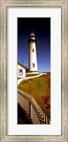 Lighthouse on a cliff, Pigeon Point Lighthouse, California, USA Fine Art Print