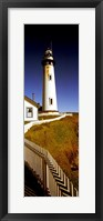 Lighthouse on a cliff, Pigeon Point Lighthouse, California, USA Fine Art Print
