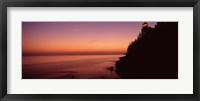 Bass Head Lighthouse at dusk, Bass Harbor, Maine Fine Art Print