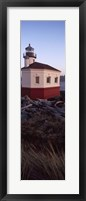 Lighthouse at the coast, Coquille River Lighthouse, Bandon, Coos County, Oregon, USA Fine Art Print