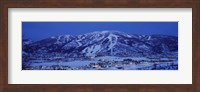 Tourists at a ski resort, Mt Werner, Steamboat Springs, Routt County, Colorado, USA Fine Art Print