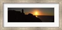 Lighthouse on the coast, Cape Sao Vincente, Sagres, Algarve, Portugal Fine Art Print