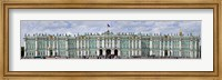 Tourists in front of Winter Palace at State Hermitage Museum, Palace Square, St. Petersburg, Russia Fine Art Print