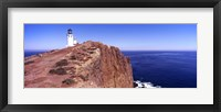 Lighthouse at a coast, Anacapa Island Lighthouse, Anacapa Island, California, USA Fine Art Print