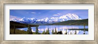 Snow Covered Mountains, Wonder Lake, Denali National Park, Alaska Fine Art Print