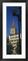 Low angle view of a clock tower, Zurich, Canton Of Zurich, Switzerland Fine Art Print