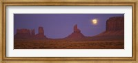 Moon over Monument Valley Tribal Park, Arizona Fine Art Print