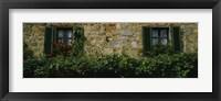 Flowers on a window, Monteriggioni, Tuscany, Italy Fine Art Print