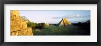 Pyramids at an archaeological site, Chichen Itza, Yucatan, Mexico Fine Art Print
