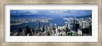Hong Kong with Cloudy Sky, China Fine Art Print