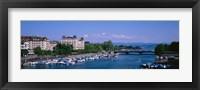 High angle view of a harbor, Zurich, Switzerland Fine Art Print
