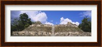 Old ruins of a temple, El Caracol, Cayo District, Belize Fine Art Print