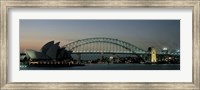 Opera House & Harbor Bridge Sydney Australia Fine Art Print