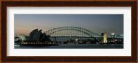 Opera House & Harbor Bridge Sydney Australia Fine Art Print