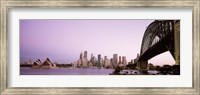 Sydney Harbor Bridge with Purple Sky, Sydney, Australia Fine Art Print