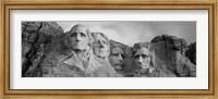 Mount Rushmore (Black And White) Fine Art Print