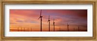 Wind Turbine In The Barren Landscape, Brazos, Texas, USA Fine Art Print