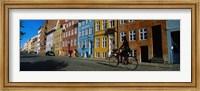Woman Riding A Bicycle, Copenhagen, Denmark Fine Art Print