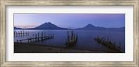 Piers Over A Lake, Guatemala Fine Art Print