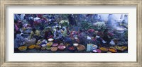 High Angle View Of A Group Of People In A Vegetable Market, Solola, Guatemala Fine Art Print