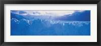 Glacier in a national park, Moreno Glacier, Los Glaciares National Park, Patagonia, Argentina Fine Art Print