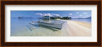 Fishing boat moored on the beach, Palawan, Philippines Fine Art Print