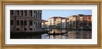 Man on a gondola in a canal, Grand Canal, Venice, Italy Fine Art Print