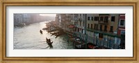 Gondolas in the Grand Canal, Venice, Italy (black & white) Fine Art Print