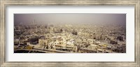 Aerial view of a city in a sandstorm, Aleppo, Syria Fine Art Print