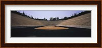 Interiors of a stadium, Olympic Stadium, Athens, Greece Fine Art Print