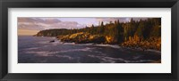 Rock formations at the coast, Monument Cove, Mount Desert Island, Acadia National Park, Maine Fine Art Print
