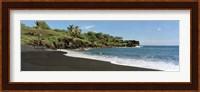 Surf on the beach, Black Sand Beach, Maui, Hawaii, USA Fine Art Print