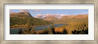 High angle view of a river passing through a field, US Glacier National Park, Montana, USA Fine Art Print
