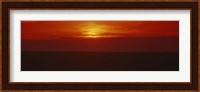 Sunset over a grain field, Carson County, Texas Panhandle, Texas, USA Fine Art Print