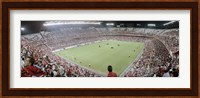 Crowd in a stadium, Sevilla FC, Estadio Ramon Sanchez Pizjuan, Seville, Seville Province, Andalusia, Spain Fine Art Print