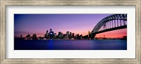 Bridge across the sea, Sydney Opera House, Sydney Harbor Bridge, Milsons Point, Sydney, New South Wales, Australia Fine Art Print