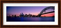 Bridge across the sea, Sydney Opera House, Sydney Harbor Bridge, Milsons Point, Sydney, New South Wales, Australia Fine Art Print