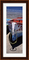 Two fishing boats on the beach, Mazatalan, Mexico Fine Art Print