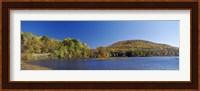 Lake in front of mountains, Arrowhead Mountain Lake, Chittenden County, Vermont, USA Fine Art Print
