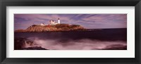 Lighthouse on the coast, Nubble Lighthouse, York, York County, Maine Fine Art Print