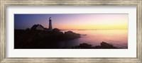 Lighthouse on the coast, Portland Head Lighthouse built 1791, Cape Elizabeth, Cumberland County, Maine, USA Fine Art Print