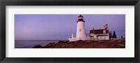 Lighthouse on the coast, Pemaquid Point Lighthouse built 1827, Bristol, Lincoln County, Maine Fine Art Print