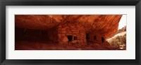 Dwelling structures on a cliff, Anasazi Ruins, Mule Canyon, Utah, USA Fine Art Print