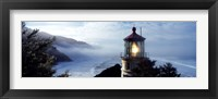 Top of Heceta Head Lighthouse in the Mist, Oregon Fine Art Print